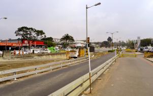 Construction along Josiah Gumede Road
