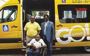S'boniso Dlamini and CLLR Logie Naidoo.