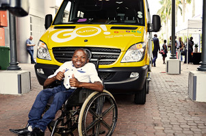 S'boniso Dlamini, DIAL-A-RIDE user.