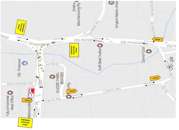 Crompton road closure