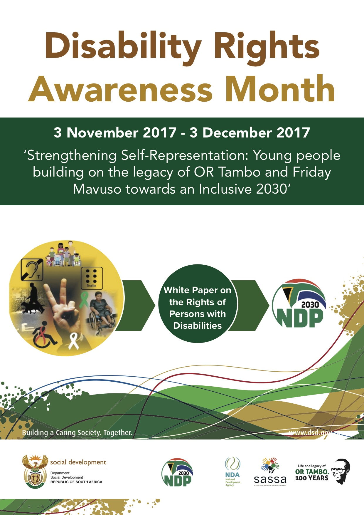 The Department of Social Development launched Disability Rights Awareness Month which runs from 03 November to 03 December 2017. The month is dedicated to raising awareness to persons with disabilities. The focus this year will be on persons with intellectual disabilities enhancing self representation.